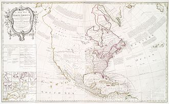 "Treaty of Paris (1763) - ""A new map of North America"" - produced following the Treaty of Paris"
