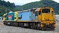 New Zealand DX class locomotive DX 5483 in Picton, together with DXC 5356 20100121 3.jpg