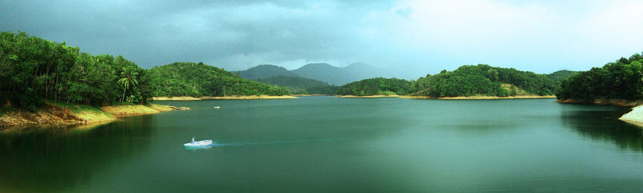 Panorama of neyyar reservoir.