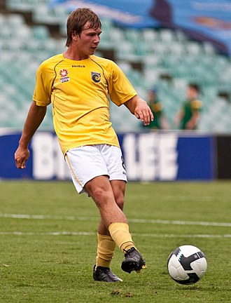 Nick Fitzgerald (footballer) - Fitzgerald playing for Central Coast Mariners Youth in 2009