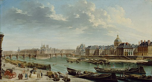 Nicolas-Jean-Baptiste Raguenet, A View of Paris with the Île de la Cité - Getty Museum