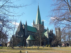 Churches in Norway - Nidaros Cathedral (11th century) is one of the largest and oldest in Norway.