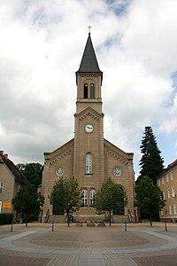 Niesky - Zinzendorfplatz - Kirche Brüdergemeinde ex 02 ies.jpg