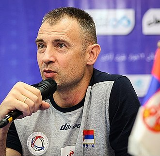 Serbia men's national volleyball team - Current head coach - Grbić.