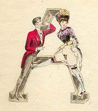 Nineteenth-century erotic alphabet A.jpg
