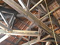 Nishin-Goten (Pacific herring Fishermans house)Beams.jpg