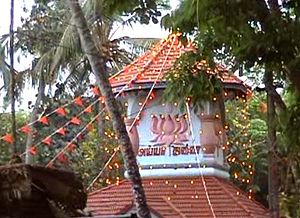 Worship centers of Ayyavazhi - Nizhal Thangal of Kokkanchi, one among the famous Thangals is western Kanyakumari, Tamil Nadu.