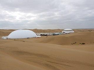desert and steppe region in Inner Mongolia, China