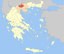Kilkis within Greece