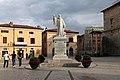 Norcia, piazza san benedetto, 02 monumento a san benedetto di Gius. Prinzi, 1880.jpg