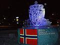 Norges statsvapen som isskulptur.jpg