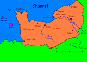 Map of Normandy