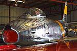 North American F-86F Sabre '12834 - FU-834' 'Jolley Roger' (NX186AM) (26216470783).jpg