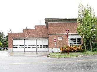 North Delta, British Columbia - North Delta Fire Hall No.3 at 11375 84 Avenue.