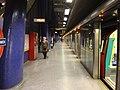 North Greenwich tube station, Platform 2 - geograph.org.uk - 811253.jpg