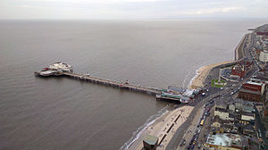 North Pier, Blackpool - Blackpool's North Pier, viewed from the top of Blackpool Tower