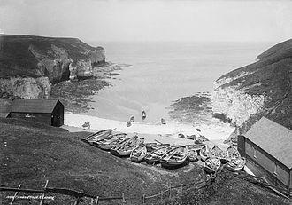 Flamborough Head - North Landing, Flamborough Head, c. 1880. Photo National Maritime Museum, ID: G2381