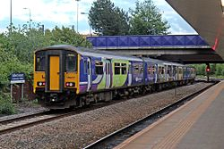 Northern Rail Class 150, 150277, Salford Crescent railway station (geograph 4500612).jpg