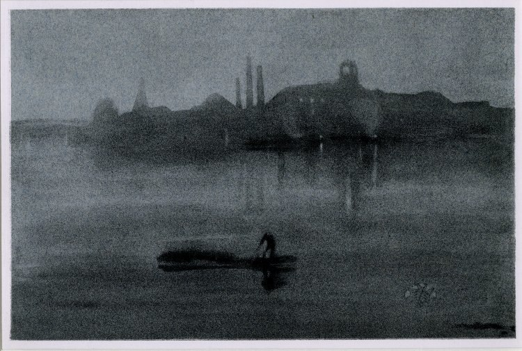 Notes Nocturne lithograph by James McNeill Whistler 1878