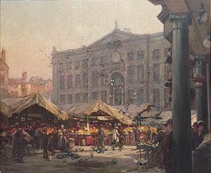 Nottingham Exchange - The Exchange ca. 1920 by Arthur Spooner