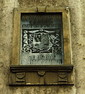 "Croats of Serbia - Commemorative plaque in Petrovaradin, suburb of Novi Sad (""To Tomislav, first Croatian king. Citizens of Petrovaradin."")"