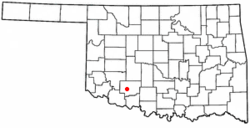 Location of Cache, Oklahoma