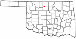 Location of Hillsdale, Oklahoma
