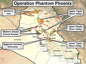 Operation Phantom Phoenix - MNF-I chart showing the focus of Operation Phantom Phoenix