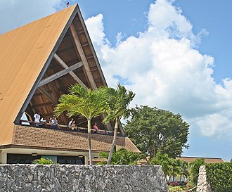 George Town, Cayman Islands - The Observation Deck at the Owen Roberts International Airport