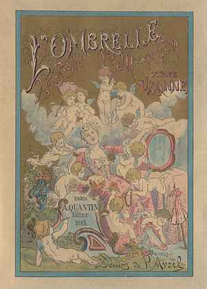 Édouard-Henri Avril - Cover of L'Ombrelle - Le Gant - Le Manchon illustrated by Avril (1883)