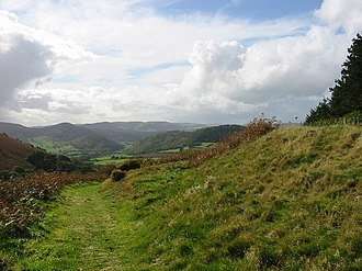 Offa of Mercia - Looking along Offa's Dyke, near Knill, Herefordshire