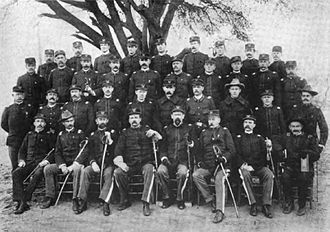 Myron H. McCord - Colonel McCord with officers of the First Territorial Infantry