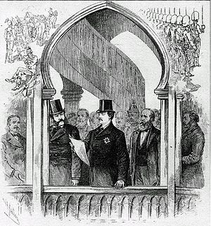 Dominion Exhibition - Official Inauguration of the Dominion Exhibition in Montreal in 1880 by the Governor General, The Marquess of Lorne