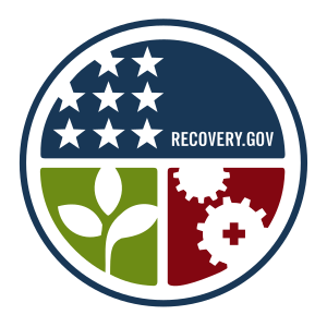 The emblem of Recovery.gov, the official site ...