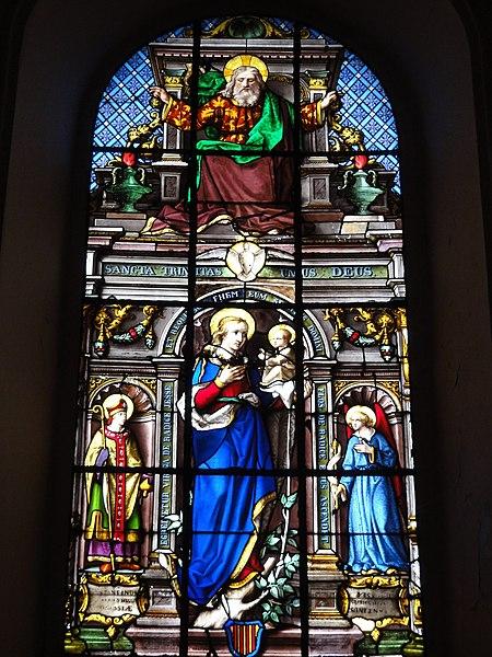 Ohain (Nord, Fr) église Saint-Martin, vitrail B (1888) par un verrier de Trélon