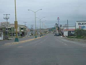 North tae border crossin on Blv. Libre Comercio in Ojinaga