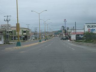 Ojinaga Town in Chihuahua, Mexico