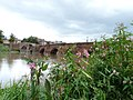 Old Dee Bridge, Chester - view of west side from south bank of River Dee 01.jpg