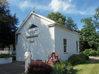 Samuel Mazzuchelli - St. Mathias Church in Muscatine, Iowa was built by Mazzuchelli in Prairie du Chien, Wisconsin and floated down the Mississippi River to Muscatine.