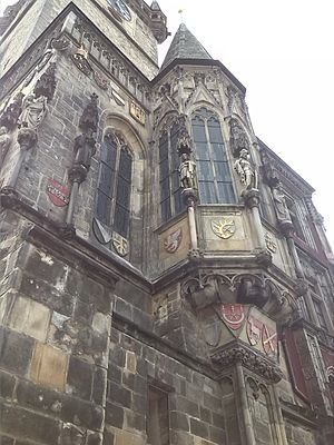 Old Town Hall (Prague) - The Town Hall chapel in the tower, consecrated in 1381.