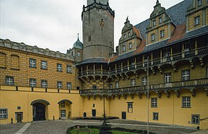 Oleśnica - Oleśnica Castle, courtyard