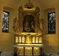 Oltář sv. Mikuláše v kostele sv. Mikuláše - Spálené Poříčí.jpg