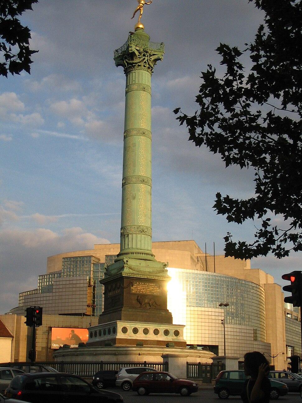 Opéra und Place de la Bastille