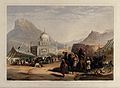 Open-air market outside the temple of Shah Ahmed, Kandahar, Wellcome V0050532.jpg