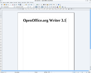 OpenOffice.org Writer 3