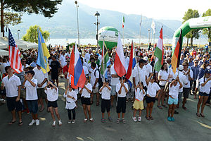 Opening ceremony of the 2012 Vintage Yachting Games.JPG