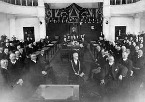 Canadian Museum of Nature - Opening session of the House of Commons at the Victoria Memorial Museum after the Parliament Buildings fire of 1916