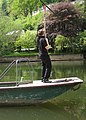 Operating the hand ferry at Symonds Yat East - geograph.org.uk - 797634.jpg