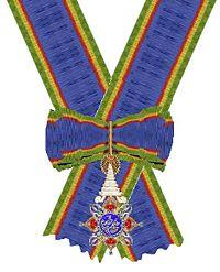 Orde van de Kroon van Thailand Grootkruis aan lint.jpg