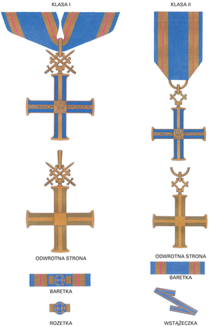 Order of the Cross of Independence - Drawing of the order 1st and 2nd class.